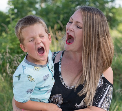 All the Rage blog image. Photo of Jessie and her son yelling.