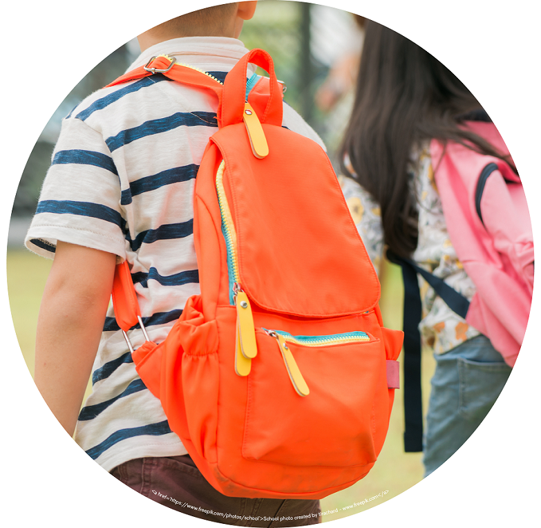 Going Back to School for Kids with ASD blog image. Photo of a child wearing a backpack going to school.